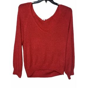 Abound V-Neck Boucle Knit Sweater red potion